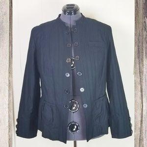 Mossimo Black Cotton Lace Blazer Jacket